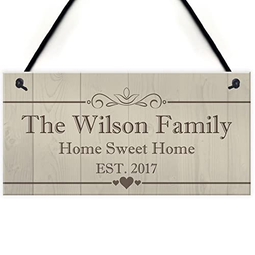 Personalised New Housewarming gift wooden new home ideas