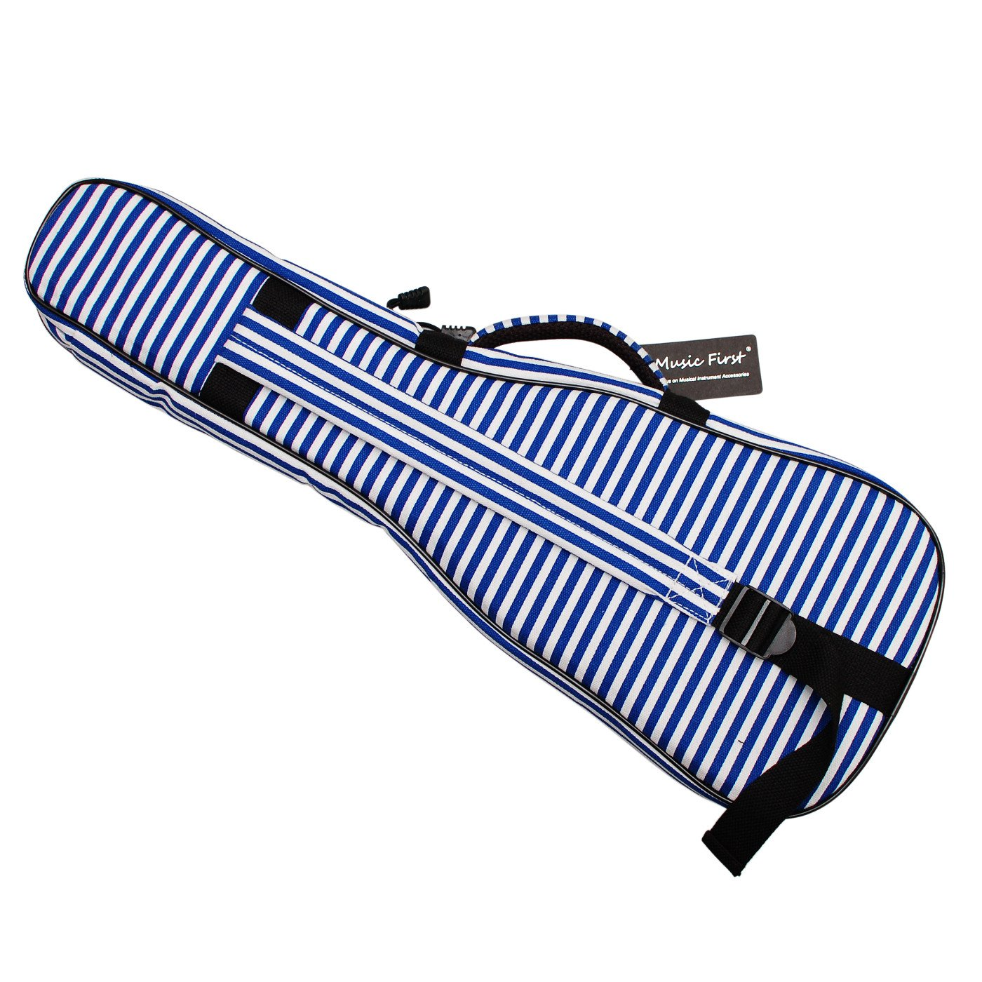 MUSIC FIRST Hand Portable 23'' Concert Cotton Canvas Blue Sailor's Striped Ukulele Bag Ukulele Cover Ukulele Case V2.0 by MUSIC FIRST (Image #3)