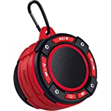 Zermatt IPX7 Waterproof Portable Wireless Bluetooth Speaker with Light Show,Suction Cup & Sturdy Hook,Lound HD Sound,TWS Ster