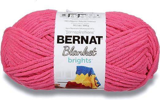 New Big Ball Yarn Bernat Blanket Brights royal blue 10.5oz
