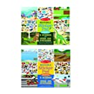 Melissa & Doug Reusable Sticker Pad Set 2-Pack, Vehicles, Habitats (Extra-Large Activity Pads, 150+ Cling-Style Stickers in Each, Great Gift for Girls and Boys - Best for 3, 4, 5 Year Olds and Up)