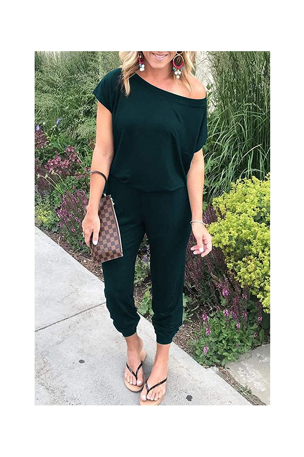Cross Strap Lace Up Jumpsuits Summer Women V Neck Casual Sleeveless Pockets Long Romper