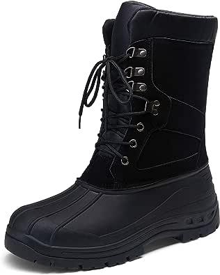 JOUSEN Men's Snow Boots Waterproof Winter Boots for Men Anti-Slip Warm Fur Winter Snow Boot