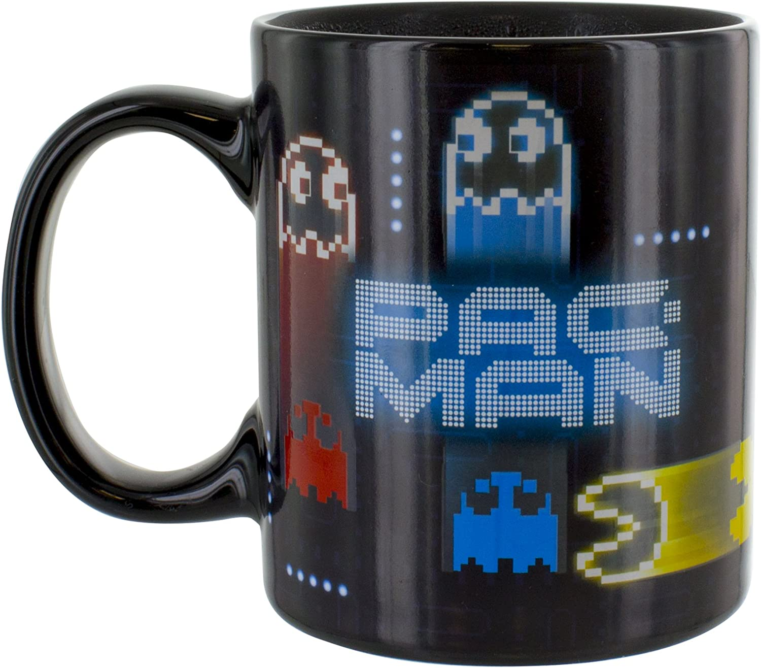 Pac-Man Neon Heat Change Mug. Official Paladone product