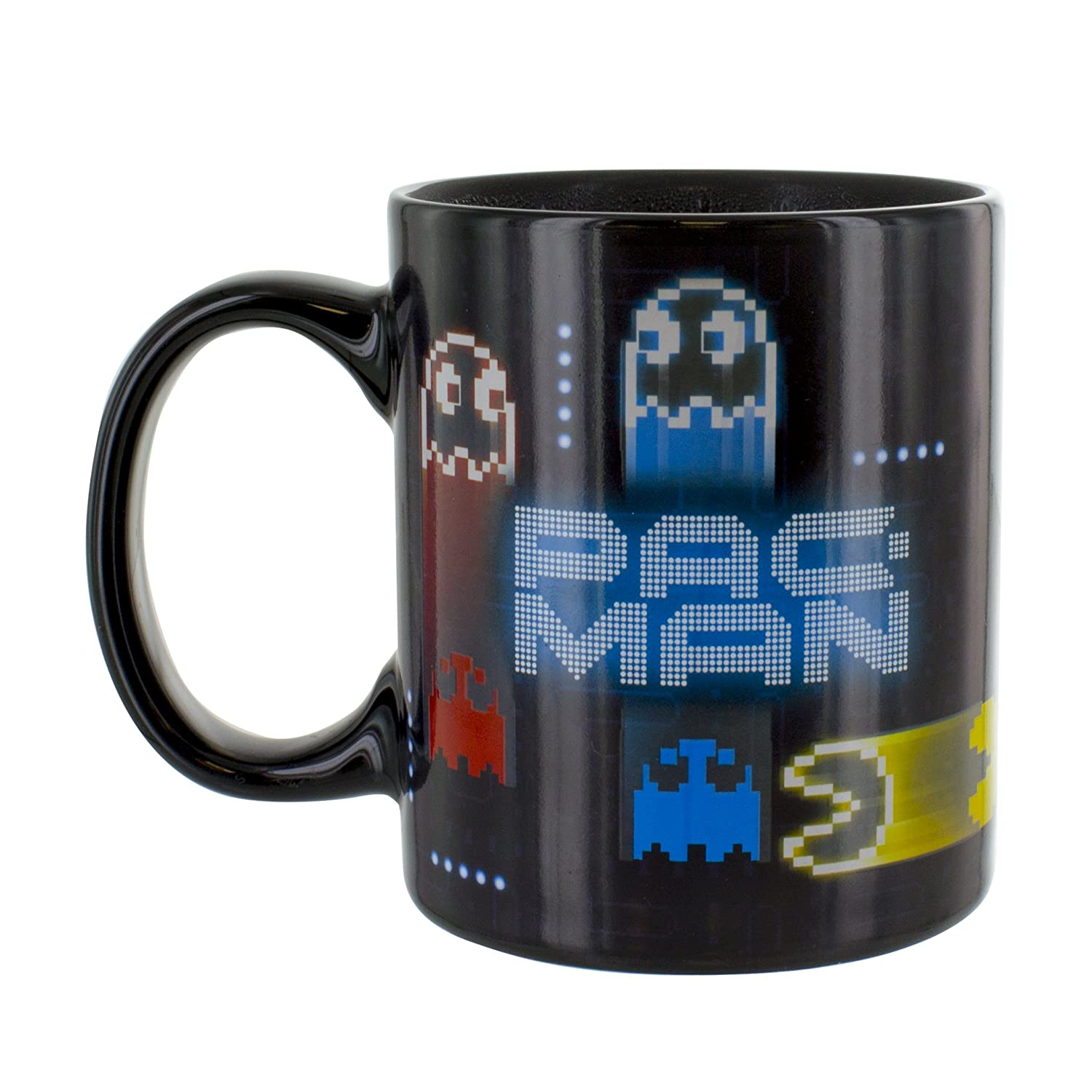 Pac Man Neon Heat Changing Ceramic Coffee Mug 10oz