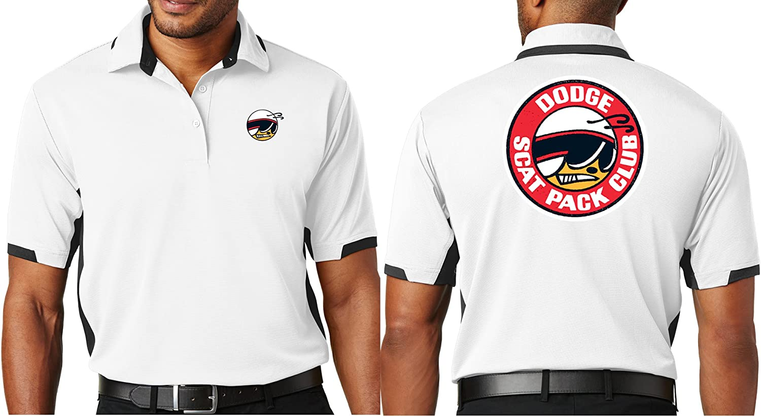 Mens Dodge Scat Pack Ottoman Polo Shirt - Front & Back Print
