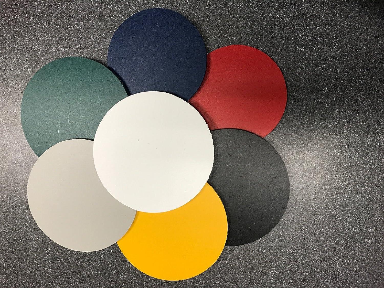 "Red PVC Sintra Circle 1//4/"" Thick Circle Disc 4/"" Diameter 2 Pack"