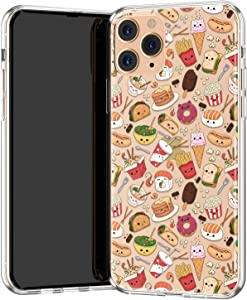 Lex Altern TPU Case Compatible with iPhone 12 Mini 11 Pro Max SE Xr Xs 8 Plus 7 6s Clear Silicone Donut Slim Cute Food Sushi Kawaii Cartoon Fries TPU Lightweight Flexible Protective Cover Taco phh109