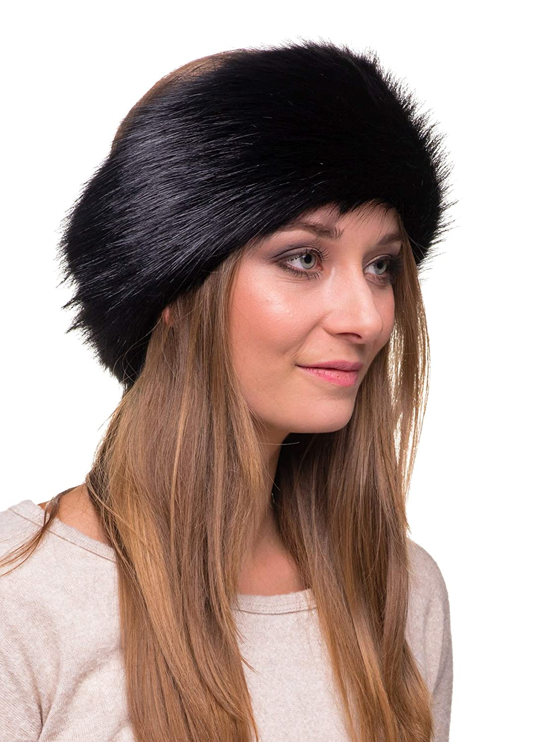 9ed306951f601 Futrzane Winter Faux Fur Headband for Women and Girls