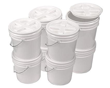 Amazoncom Bucket Kit Eight White 2 Gallon Buckets With White