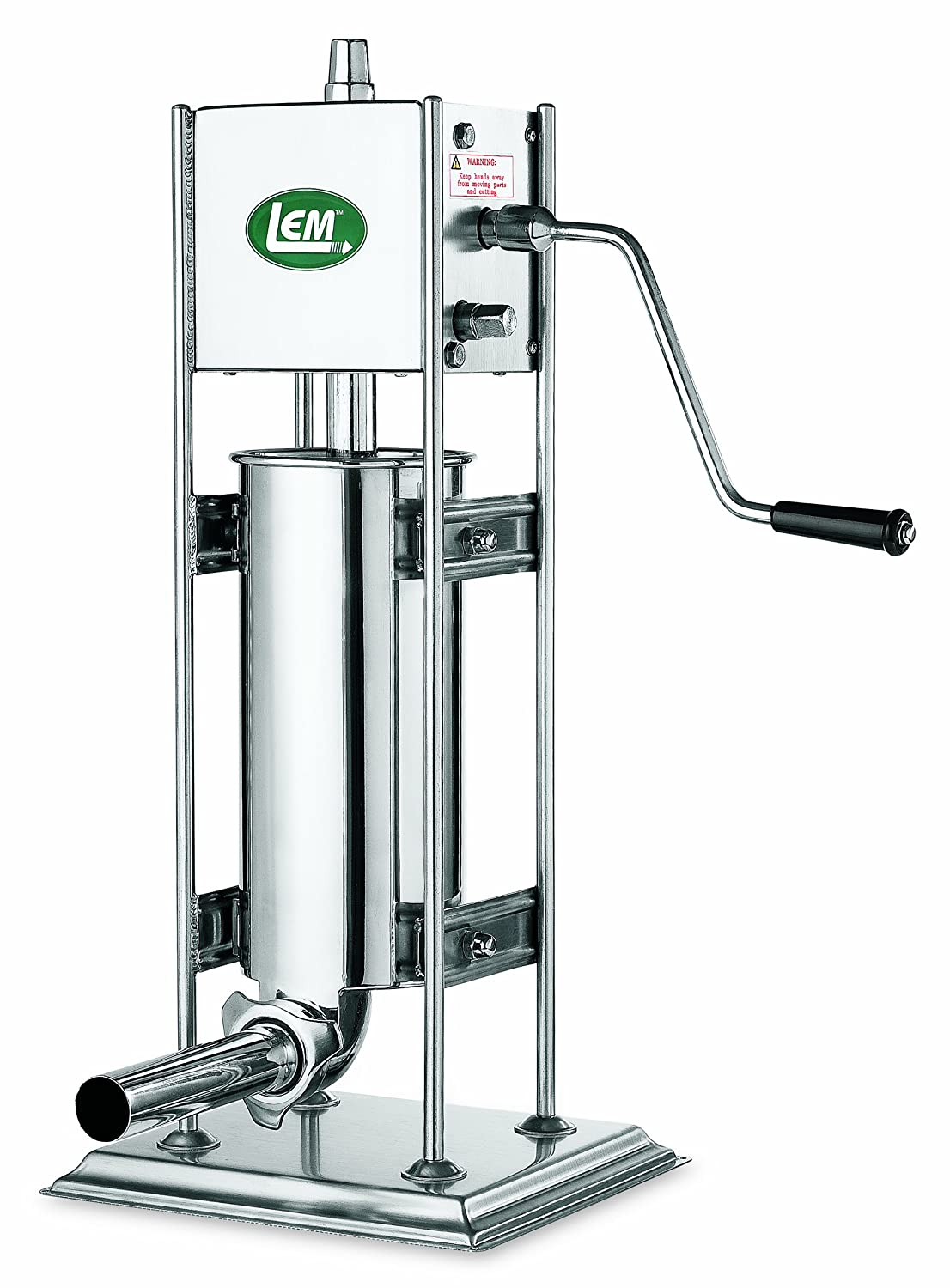 LEM Products 1112 Big Bite 10-Pound Stainless Steel Dual Gear Vertical Sausage Stuffer