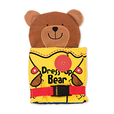 Melissa & Doug Soft Activity Baby Book - Dress Up Bear: Melissa & Doug: Toys & Games