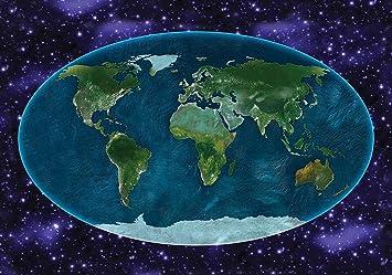 Erde Karte Rund.Welt Der Träume Fototapete Tapete Wandbild Universum Rund Um Die