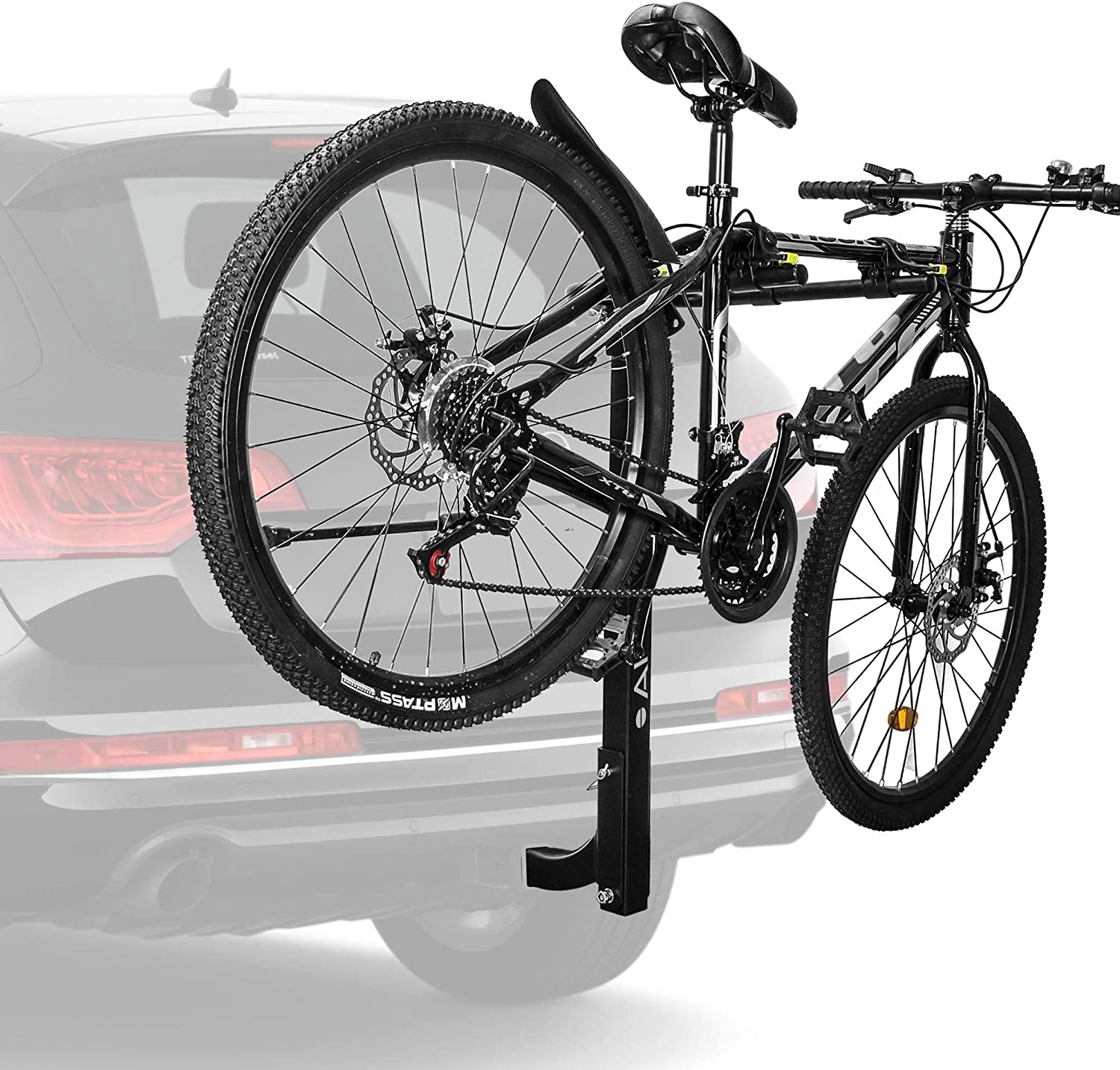 Arksen Premium 2-Bike Carrier Rack Hitch Mount Swing Down Bicycle Rack With 2-Inch Receiver