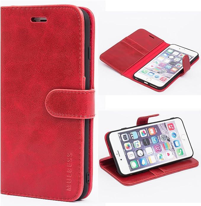 Custodia Portafoglio in Pelle per iPhone 6 / 6S - Rosso