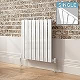 iBathUK | 600 x 600 mm White Column Designer Radiator Horizontal Single Flat Panel