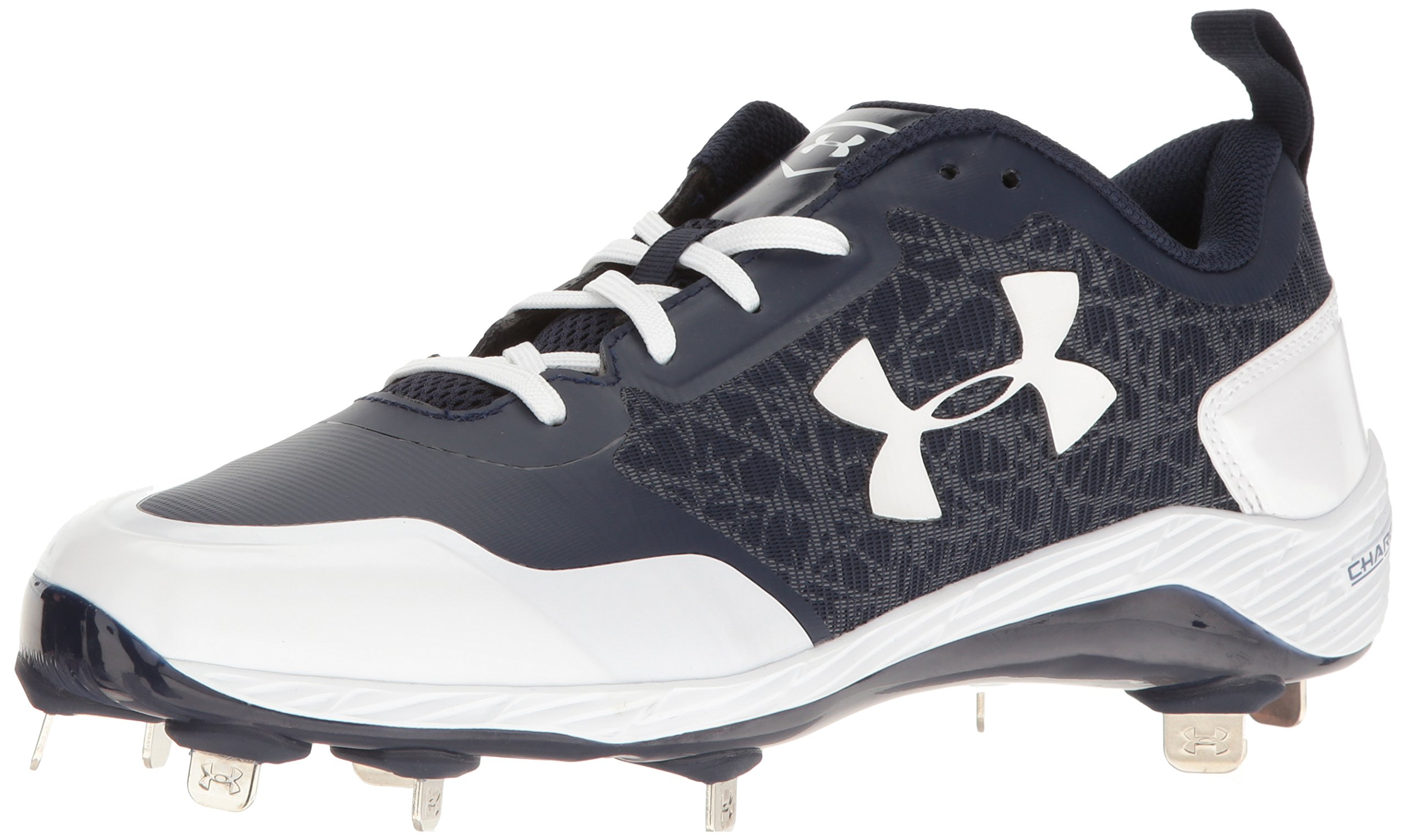 Under Armour Men's Yard Low ST Baseball Shoe, Midnight Navy (412)/White, 8