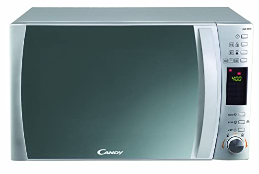 Candy CMG-30 CMG 30 DS 30 litros. Microondas:900 W/Grill:1000 W. Display Digital. Color: Silver, 1450, Plateado