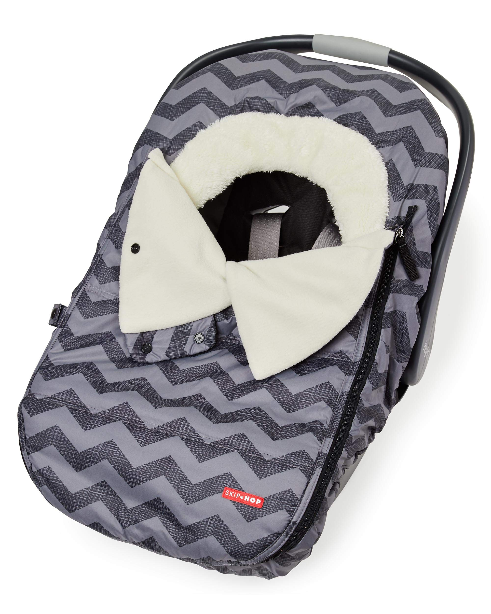 Skip Hop Stroll & Go Infant & Toddler Automotive Car Seat Cover Bunting Accessories, Universal Fit, Tonal Chevron, Black Chevron by Skip Hop (Image #1)
