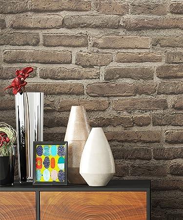 Steintapete Vlies Grau Beige Natur Stein | Schöne Edle Tapete Im Steinmauer  Design | Moderne 3D