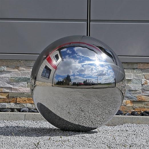 CLGarden 48cm Gran Bola de Acero Inoxidable Bola de Acero Inoxidable para jardín V2 A Acero Bola de Jardín Decorativa Bola: Amazon.es: Jardín