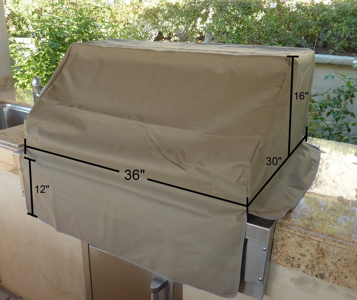 amazon com bbq built in grill cover up to 36