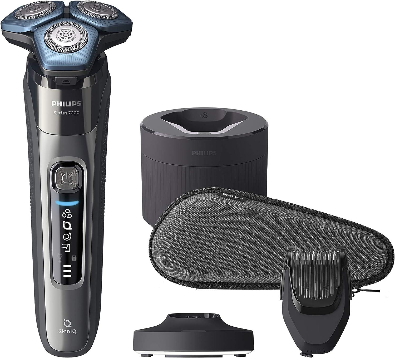 Philips S7788/59 Series 7000 - Afeitadora eléctrica para pieles sensibles con base de limpieza