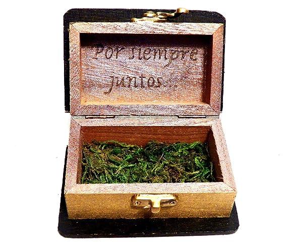 Caja personalizada del anillo de boda, caja de la novia de la boda, caja
