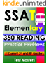 SSAT Elementary - 350 Reading Practice Problems ( Testing for Grades 3 and 4 )