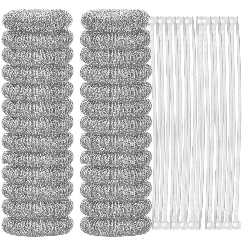 Anezus 26 Pcs Rustproof Lint Traps for Washing Machines Hose and Laundry Tubs Drain Sink