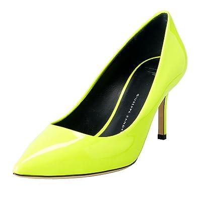 giuseppe zanotti design womens lime green pumps high heels shoes us 55 it 365