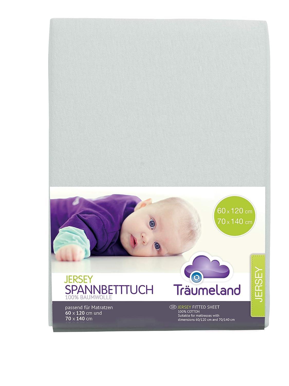 70 x 140 cm malve-rose Träumeland Spannbetttuch Jersey 60 x 120 cm