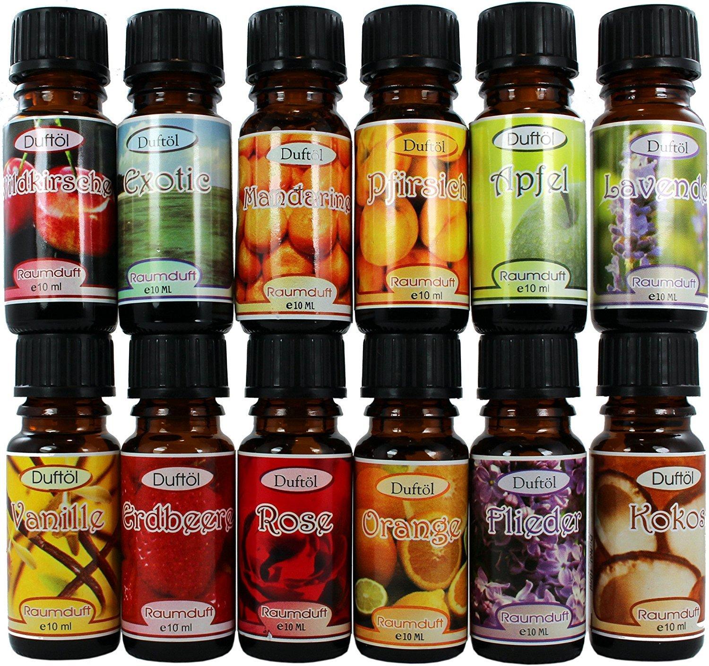 12 Botellas Aceites Esenciales Perfumados Concentrados en Caja de Regalo REF36 - Super Aroma Incluye las Fragancias más exclusivas - 10ml cada botella de ...