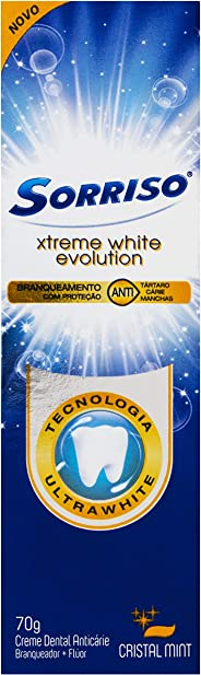 Creme Dental Sorriso Xtreme White Evolution Cristal Mint 70g