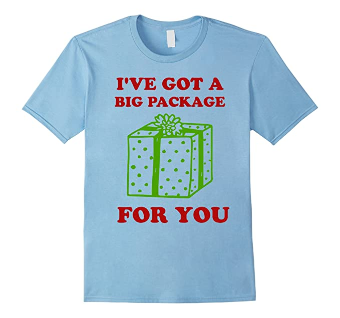 mens ive got a big package for you t shirt dirty christmas tee