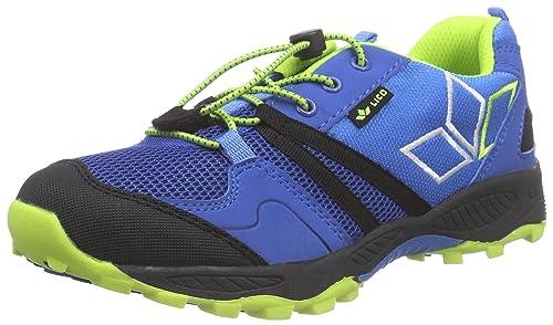 Lico Geo - Zapatillas de Trekking y Senderismo de Material sintético niños, Color Azul, Talla 35: Amazon.es: Zapatos y complementos