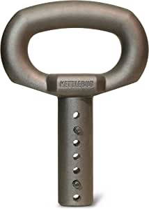 Kettlebud Adjustable Kettlebell Handle - Uses Common Weight Plates for Home Gym and Portable Workouts (5-100 pounds)