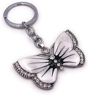 Schmetterling Falter Tier grün Strass Silber Schlüsselanhänger Anhänger