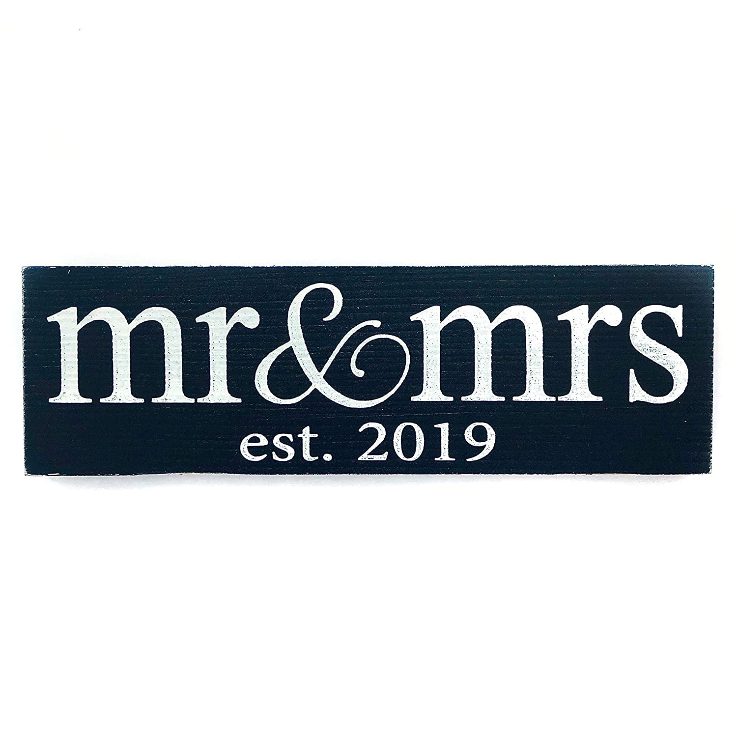 Local Artist Wooden Mr and Mrs Established 2019 Wedding Sign or Home Decor