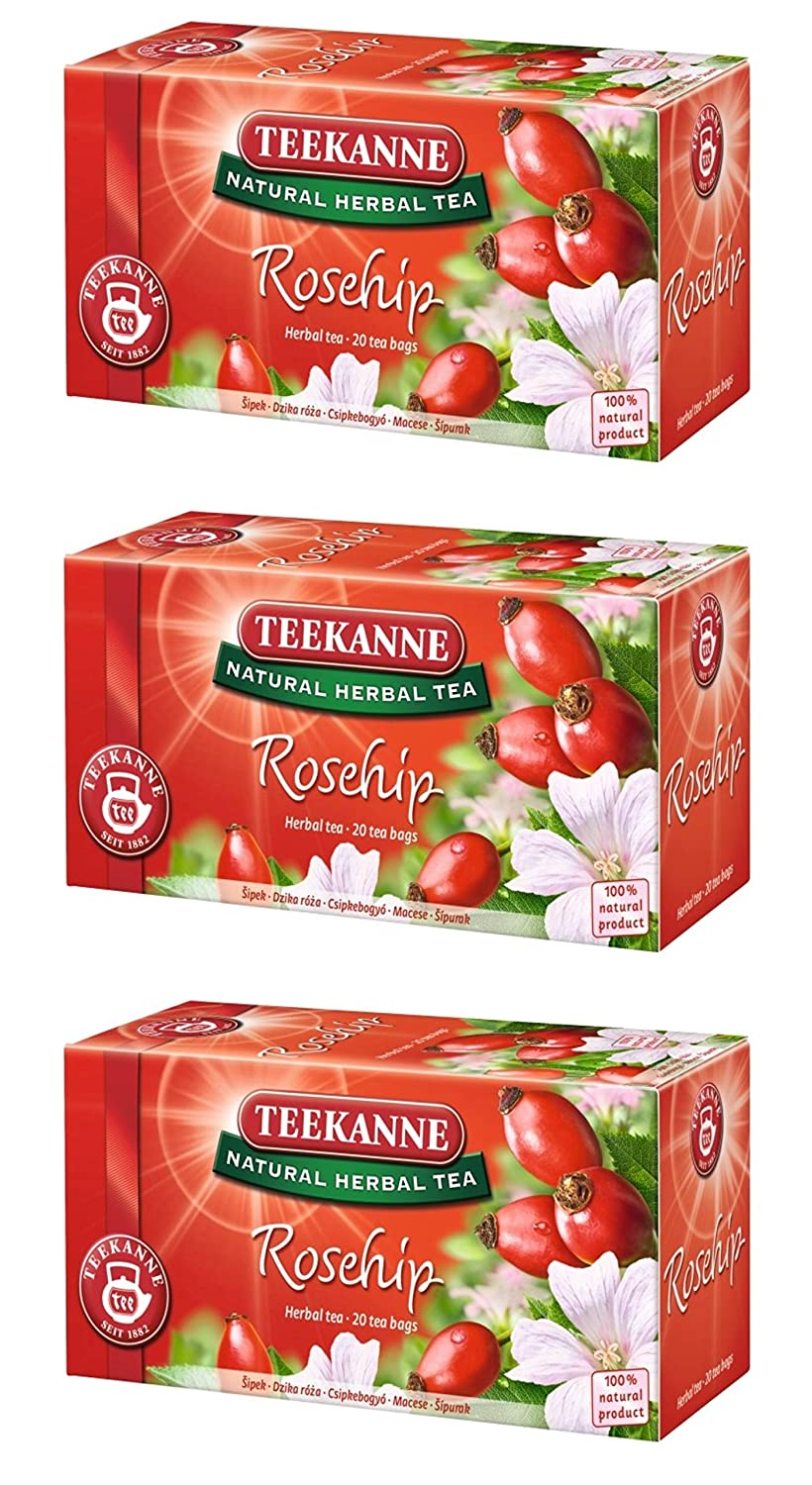 Teekanne Rosehip Flower Tea Pack of 3 From Europe