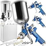 TecTake HVLP Lackierpistolen Set + Koffer - Verschiedene Modelle & Sets - (Set 400495)