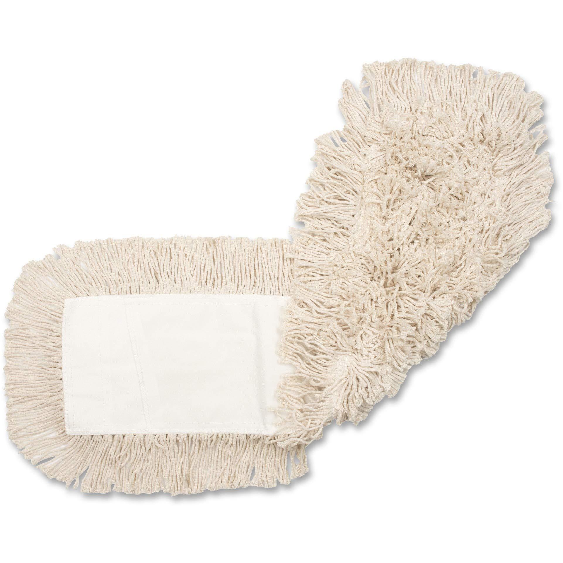 Genuine Joe GJO24500CT Disposable Cotton Dustmop Refill, 24''X5'', 12Ea/Ct, Natural (Pack of 12)