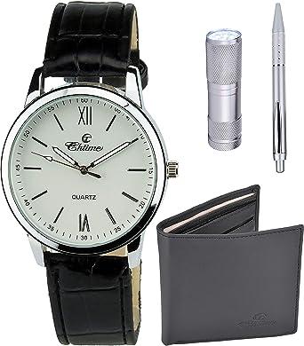 Caja de Regalo Reloj Hombre Blanco - Lámpara LED - Cuchillo suizo ...