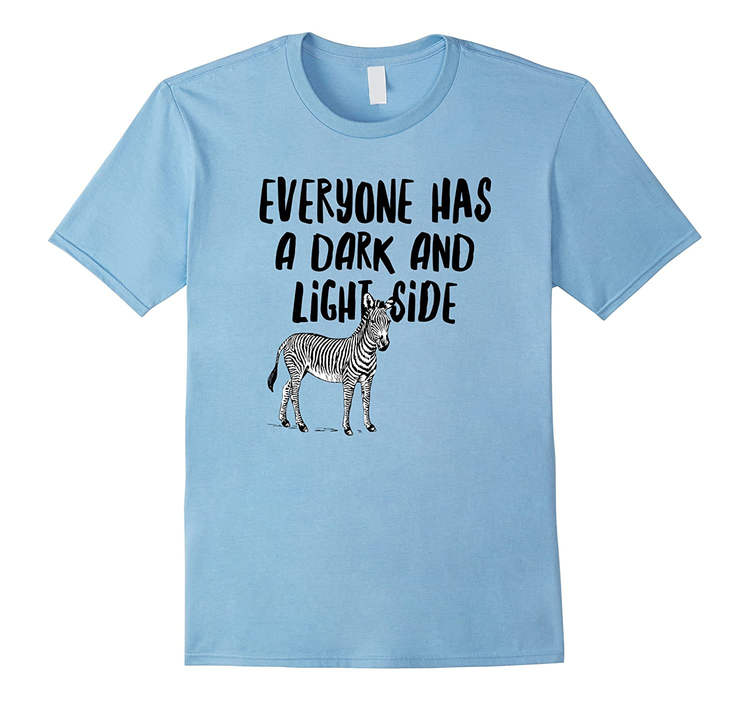 Zebra Shirt Life is Not All Black and White Motivation Quote-Rose