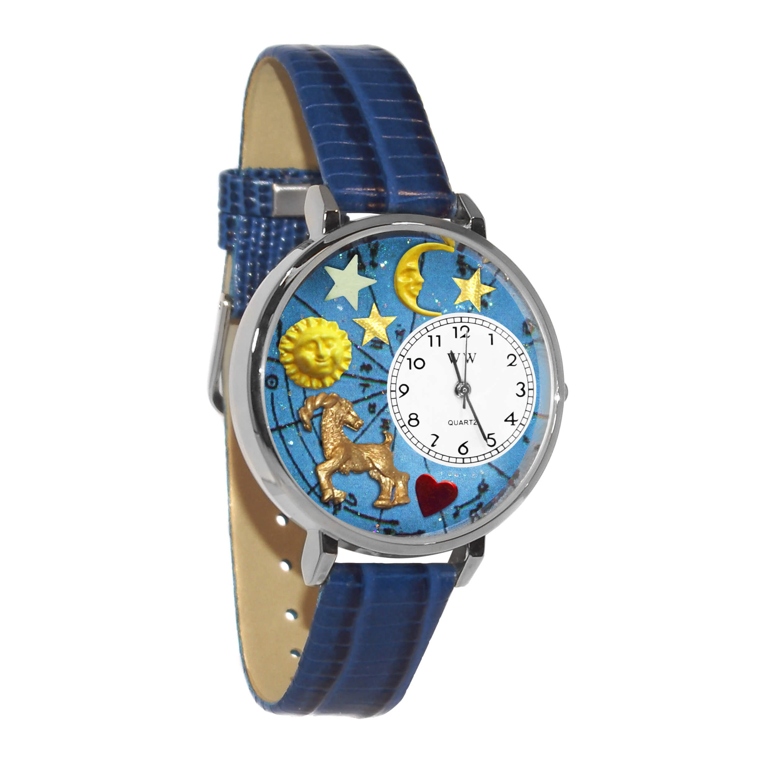 Whimsical Watches Unisex U1810005 Capricorn Royal Blue Leather Watch