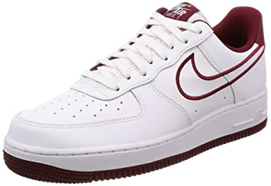 WomenMen Latest Nike Air Force One Low 07 Leather White Team Red