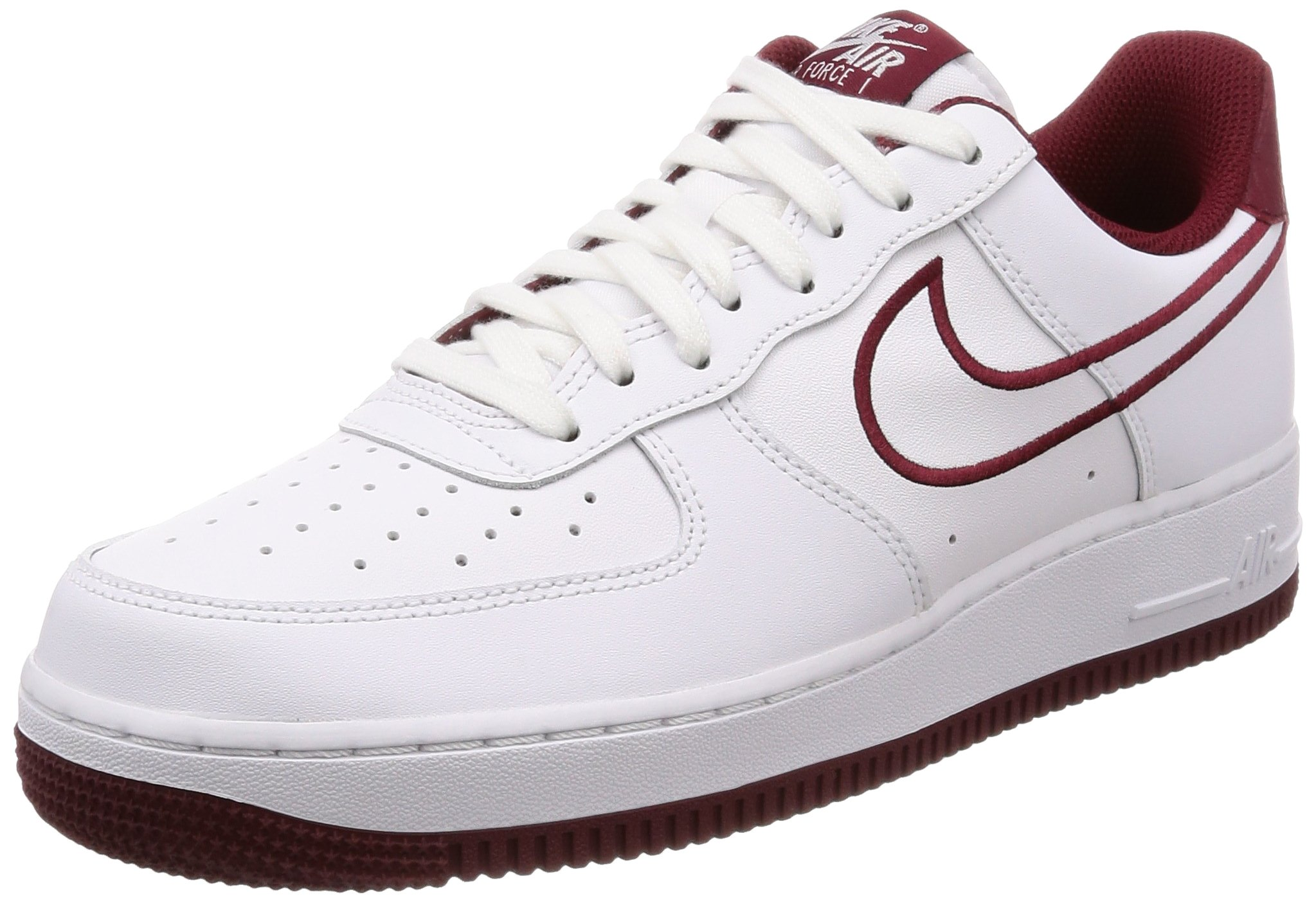 f438f577127293 Galleon - NIKE Men s Air Force 1  07 Leather Shoe White Team Red