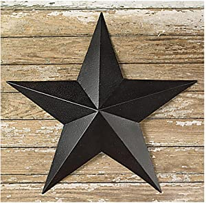 The Country House Collection 6 Inch Black Barn Star