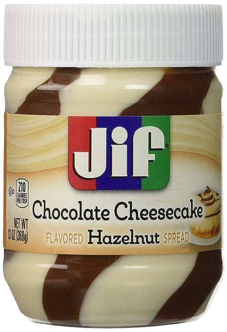 Jif Hazelnut Spread, Chocolate Cheesecake, 13 Ounce