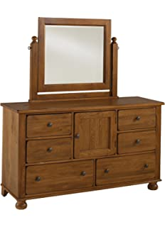 broyhill attic heirlooms dresser mirror with back supports brown